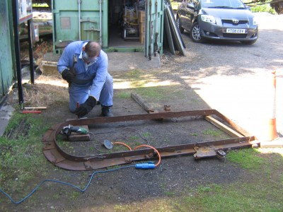 Derek Riley removing modifications to the replacement gangway portal