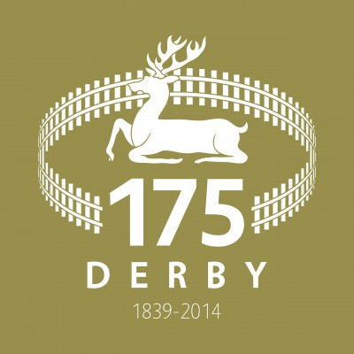 GOLD Derby Railway 175 Logo
